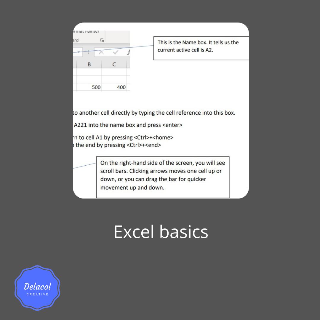 delacolcreative.co.uk Excel basics