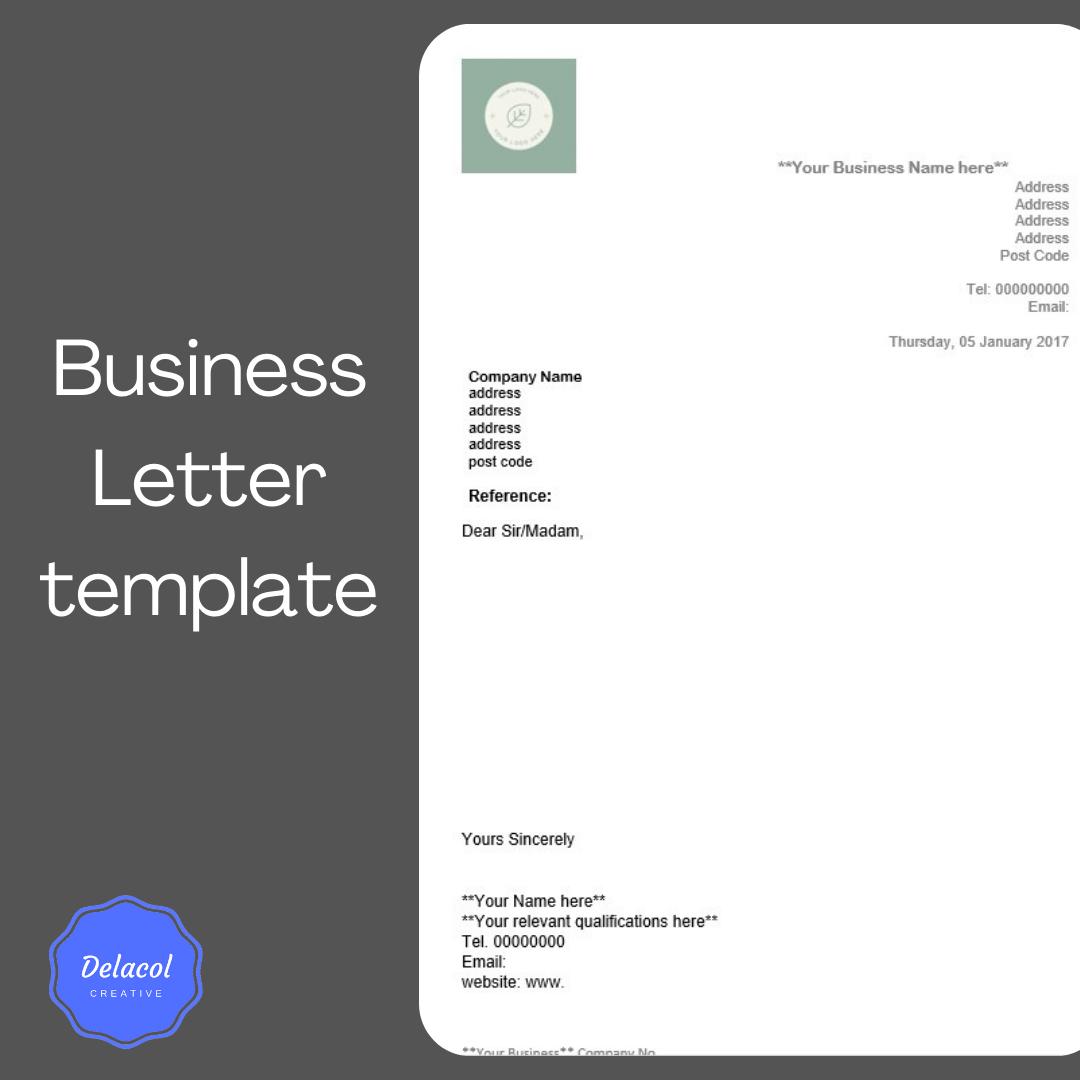 delacolcreative.co.uk business letter