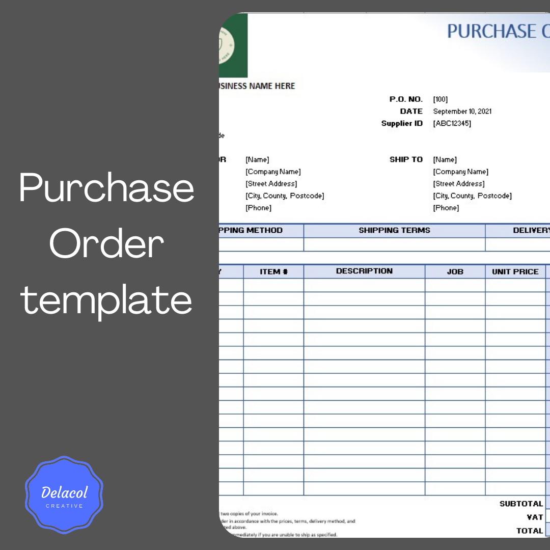 delacolcreative.co.uk purchase order