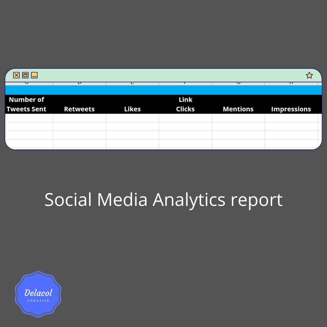 Social Media Analytics report - delacolcreative.co.uk
